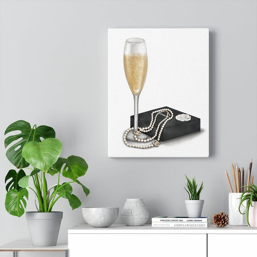 Champagne Pearls | Canvas Art