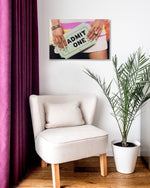 Fashion Canvas Art in stylish living space
