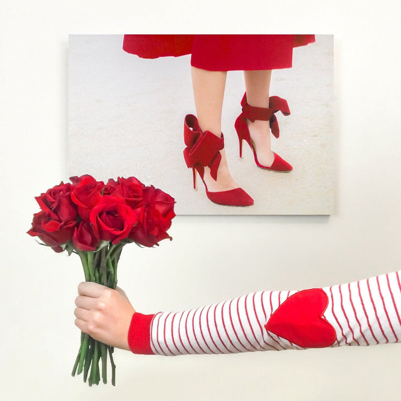 Red Over Heels | Canvas Art
