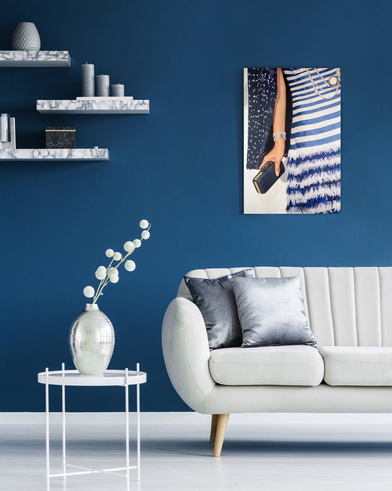 Blue Striped | Canvas Art
