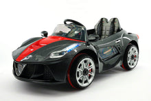 Ferrari Spider Style Kids Ride-On Car MP3 12V Battery Power Wheels R/C Parental Remote | Carbon Black