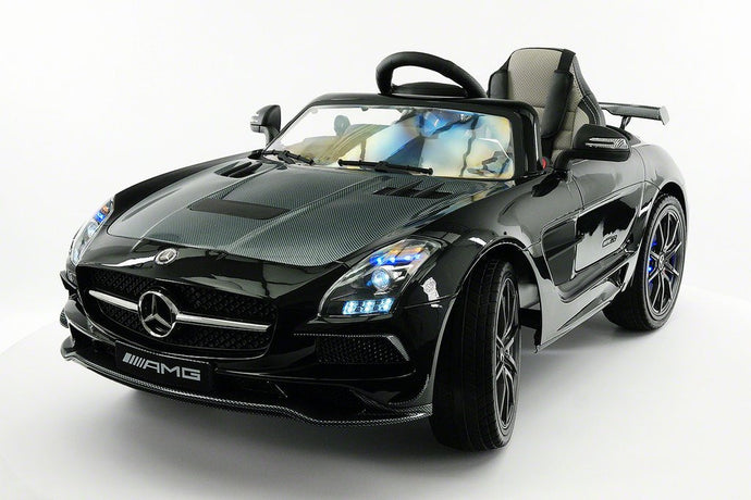 MERCEDES BENZ SLS  RIDE-ON TOY CAR WITH PARENTAL REMOTE MP4 | BLACK