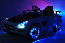 Mercedes SLS AMG Battery Powered Ride On Car with MP3 MP4 and Remote Control White