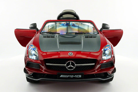 Mercedes SLS AMG Battery Powered Ride On Car with MP3 MP4 and Remote Control Cherry