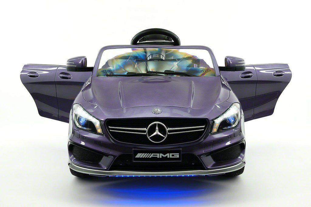 Mercedes CLA45 12V Kids Ride-On Car MP3 USB Player Battery Powered Wheels R/C Parental Remote Violet