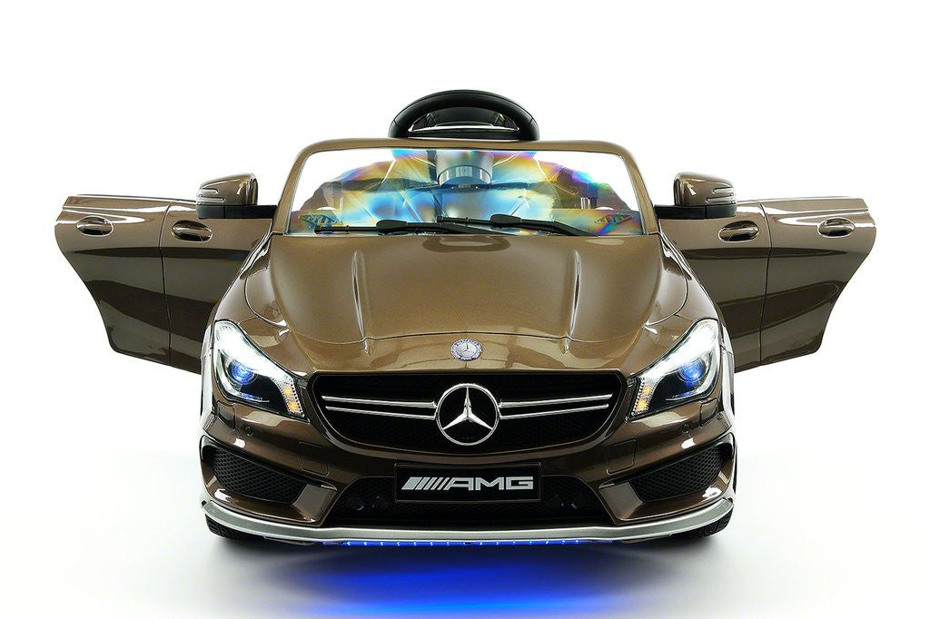 Mercedes CLA45 12V Kids Ride-On Car MP3 USB Player Battery Powered Wheels R/C Parental Remote Brown