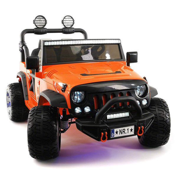 SUV Explorer 12V Kids Ride-On Toy Car Truck With R/C Parental Remote | Orange
