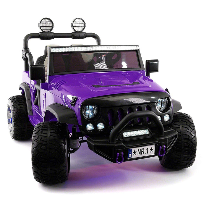 SUV Explorer 12V Kids Ride-On Toy Car Truck With R/C Parental Remote | Purple