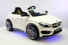 Mercedes Benz CLA45 Kids Ride On Car Toy MP3,USB,12V Bat,Powered Wheels R/C White