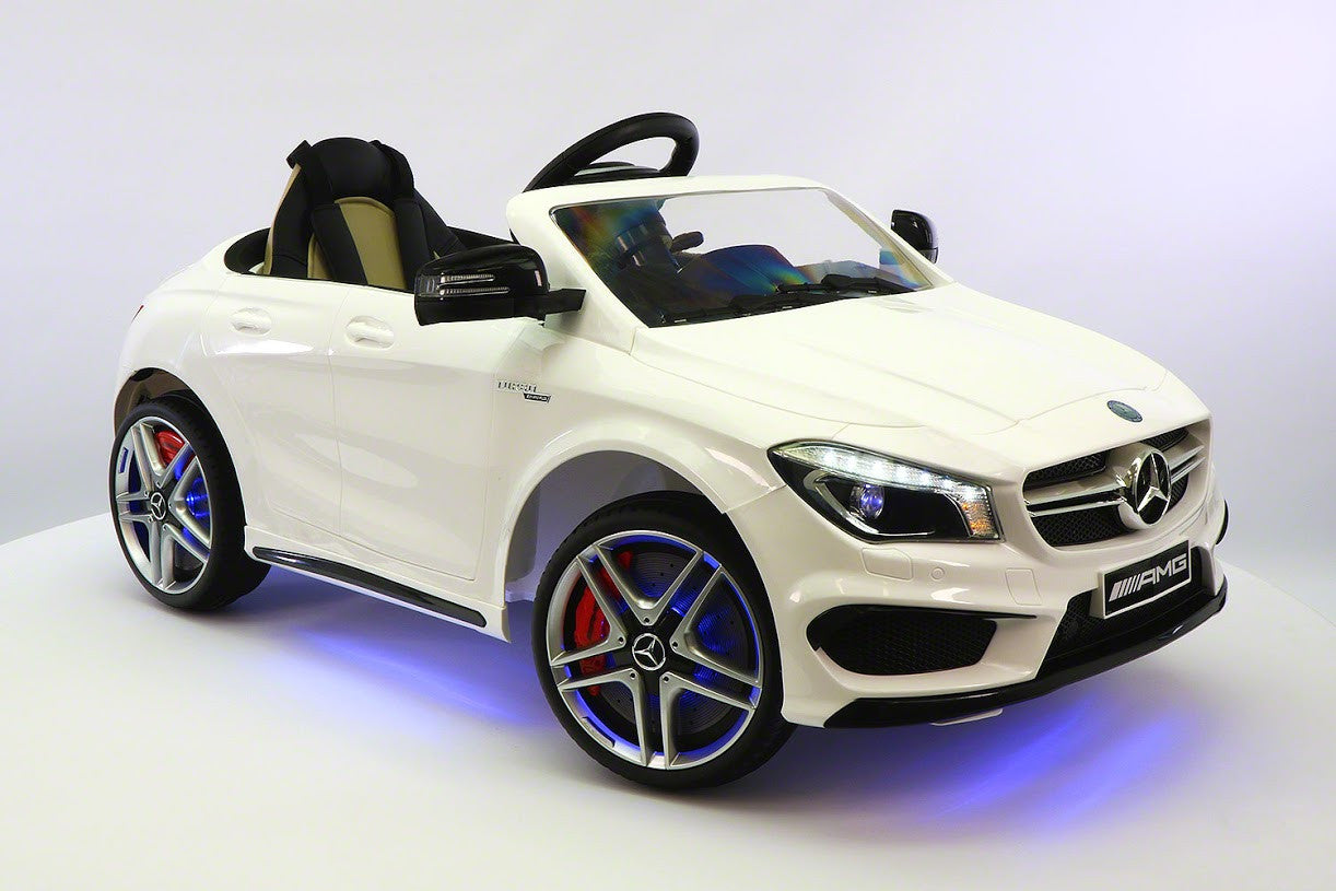 mercedes benz cla45 kids ride on car toy mp3usb12v batpowered wheels rc white