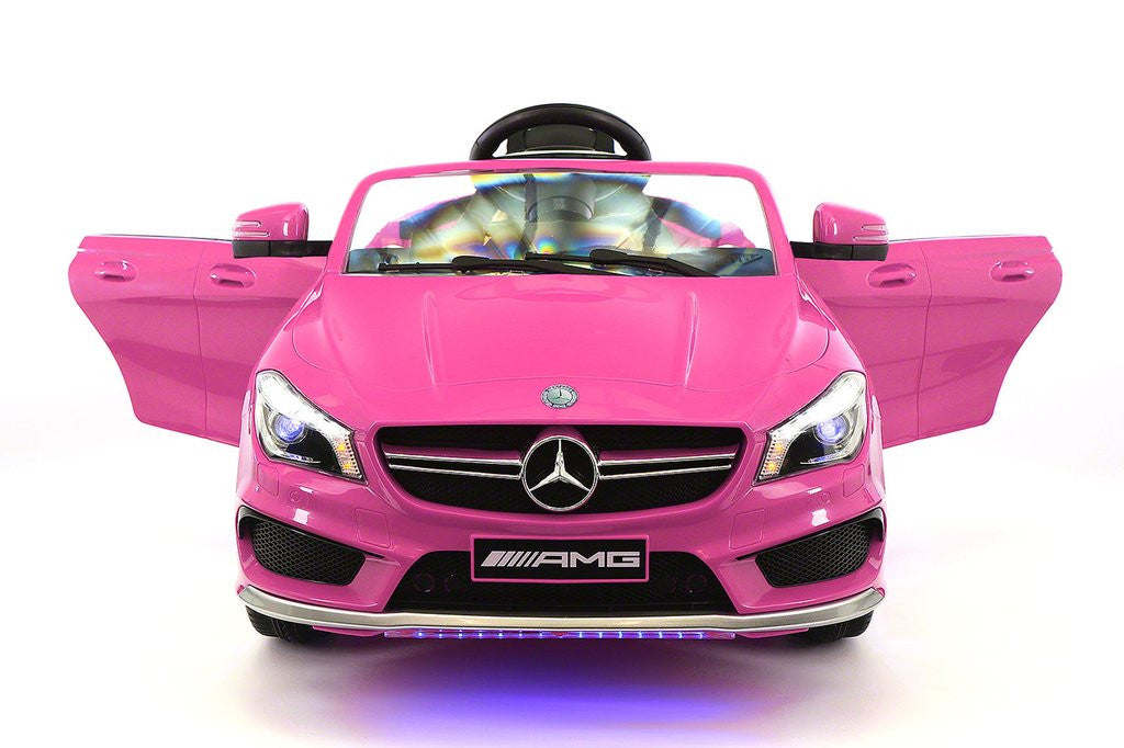 Mercedes CLA45 12V Kids Ride-On Car MP3 USB Player Battery Powered Wheels R/C Parental Remote | Pink