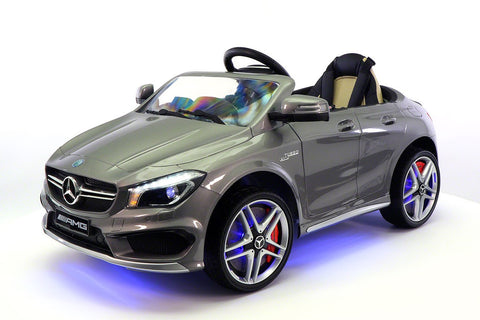 Mercedes CLA45 12V Kids Ride-On Car MP3 USB Player Battery Powered Wheels R/C Parental Remote | Grey