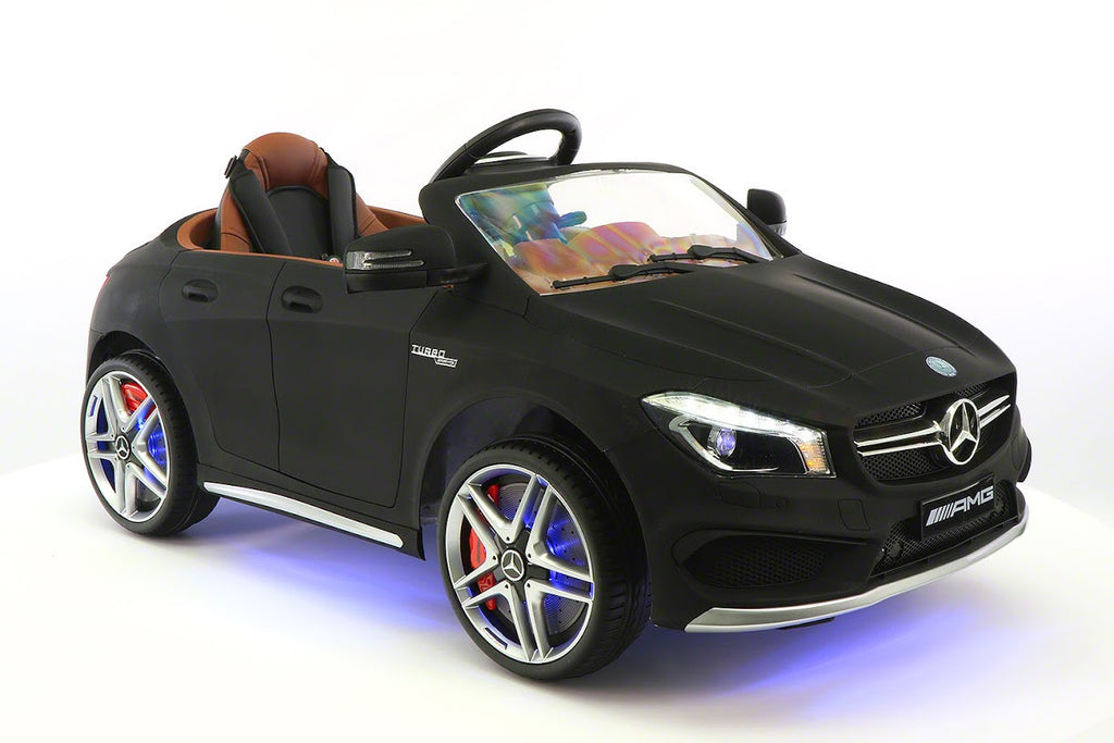 Mercedes Benz CLA45 Kids Ride On Car Toy MP3,USB,12V Bat,Powered Wheels R/C Black