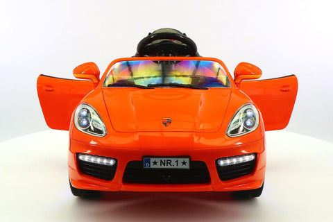 Sport Style 12V Kids Ride-On Toy Car MP3, Battery Powered Wheels RC Remote | Orange