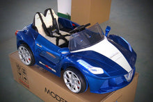 Ferrari Spider Style Kids Ride-On Car MP3 12V Battery Power Wheels R/C Parental Remote | Blue