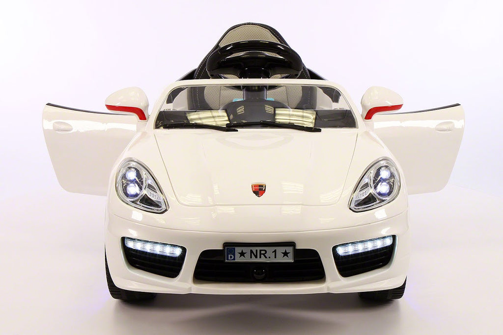 Sport Style 12V Kids Ride-On Toy Car MP3,Battery Powered Wheels RC Remote | White