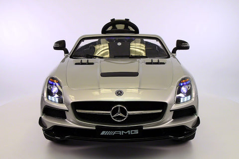 Mercedes SLS AMG Battery Powered Ride On Car with MP3 MP4 and Remote Control Silver