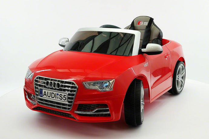 Audi S5 Sport Licensed Electric Battery Power Ride On Toy Car For Kids | Red