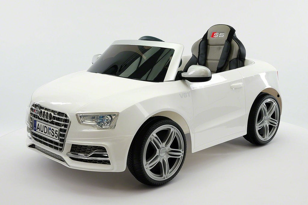audi s5 sport licensed electric battery power ride on toy car for kids white