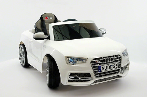 Audi S5 Sport Licensed Electric Battery Power Ride On Toy Car For Kids | White