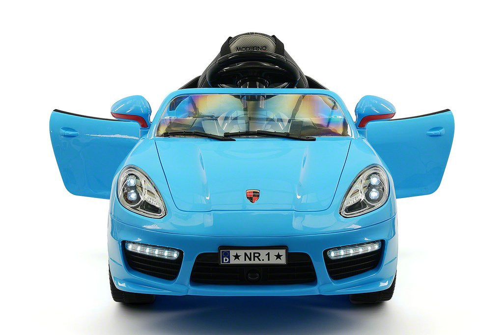 Sport Style 12V Kids Ride-On Toy Car MP3, Battery Powered Wheels RC Remote | Blue