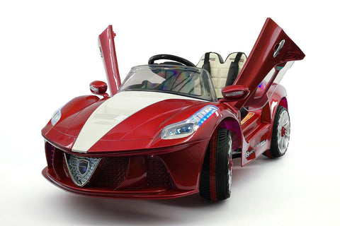 Ferrari Spider Style Kids Ride-On Car MP3 12V Battery Power Wheels R/C Parental Remote | Cherry