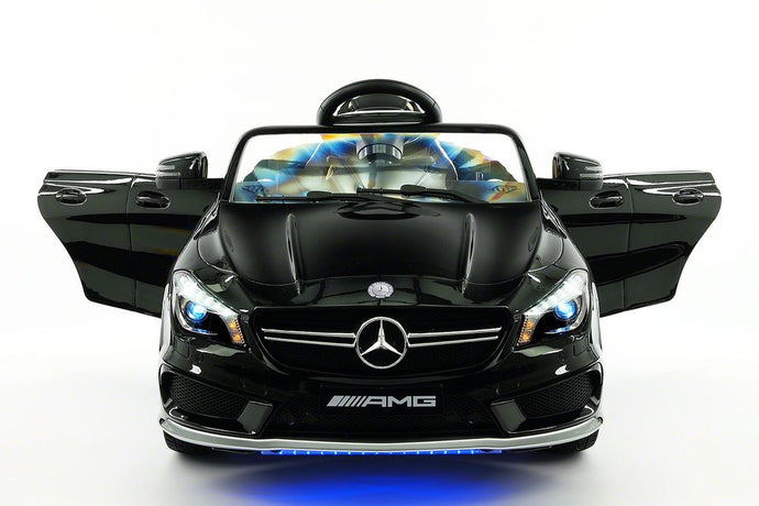MERCEDES BENZ CLA45 RIDE-ON TOY CAR WITH PARENTAL REMOTE |  BLACK METALLIC