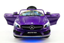 Mercedes Benz CLA45 Kids Ride On Car Toy MP3,USB,12V Bat,Powered Wheels R/C Purple