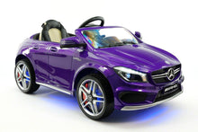 MERCEDES BENZ CLA45 RIDE-ON TOY CAR WITH PARENTAL REMOTE |  PURPLE