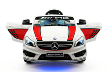 MERCEDES BENZ CLA45 RIDE-ON TOY CAR WITH PARENTAL REMOTE |  STRIPE WHITE