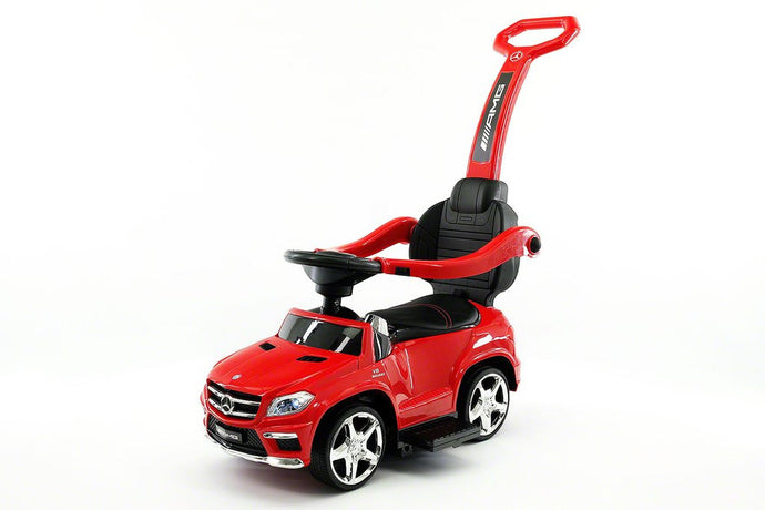 MERCEDES GL63 KIDS CONVERTIBLE RIDE ON PUSH AND FOOT TO FLOOR CAR | RED