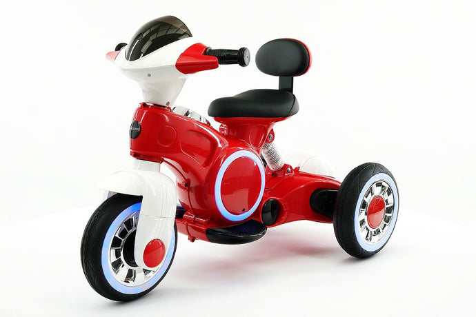 VIP 12V Electric Kids Ride On Tricycle With LED Wheels And MP3 Player | Red