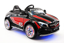 MERCEDES BENZ CLA45 RIDE-ON TOY CAR WITH PARENTAL REMOTE |  STRIPE BLACK