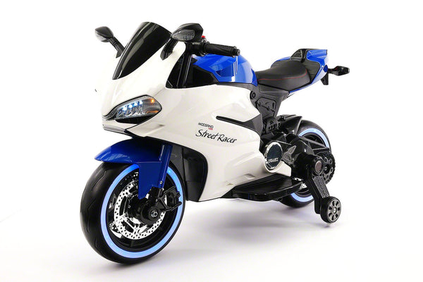 Street Racer 12V Electric Kids Ride-On Motorcycle | Blue