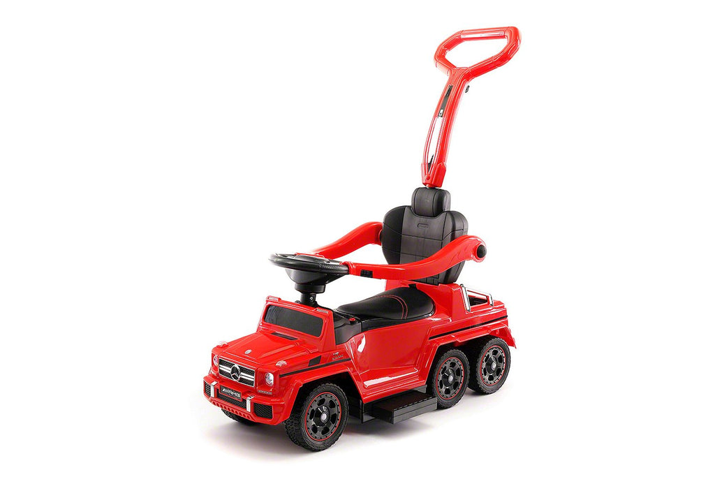 MERCEDES G63 AMG 6X6 CHILDREN ELECTRIC RIDE ON CONVERTIBLE PUSH AND FOOT TO FLOOR CAR | RED