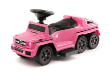 MERCEDES G63 AMG 6X6 CHILDREN ELECTRIC RIDE ON CONVERTIBLE PUSH AND FOOT TO FLOOR CAR | PINK