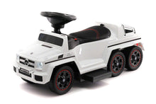 MERCEDES G63 AMG 6X6 CHILDREN ELECTRIC RIDE ON CONVERTIBLE PUSH AND FOOT TO FLOOR CAR | WHITE