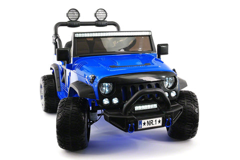 SUV 12V KIDS RIDE-ON CAR TRUCK WITH R/C PARENTAL REMOTE | BLUE