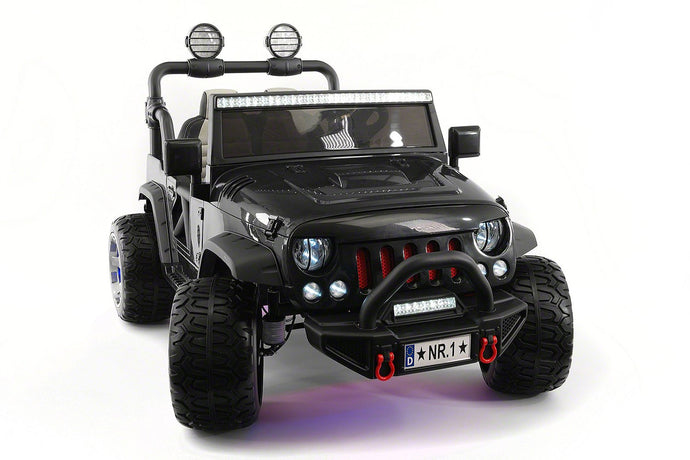SUV Explorer 12V Kids Ride-On Toy Car Truck With R/C Parental Remote | Black
