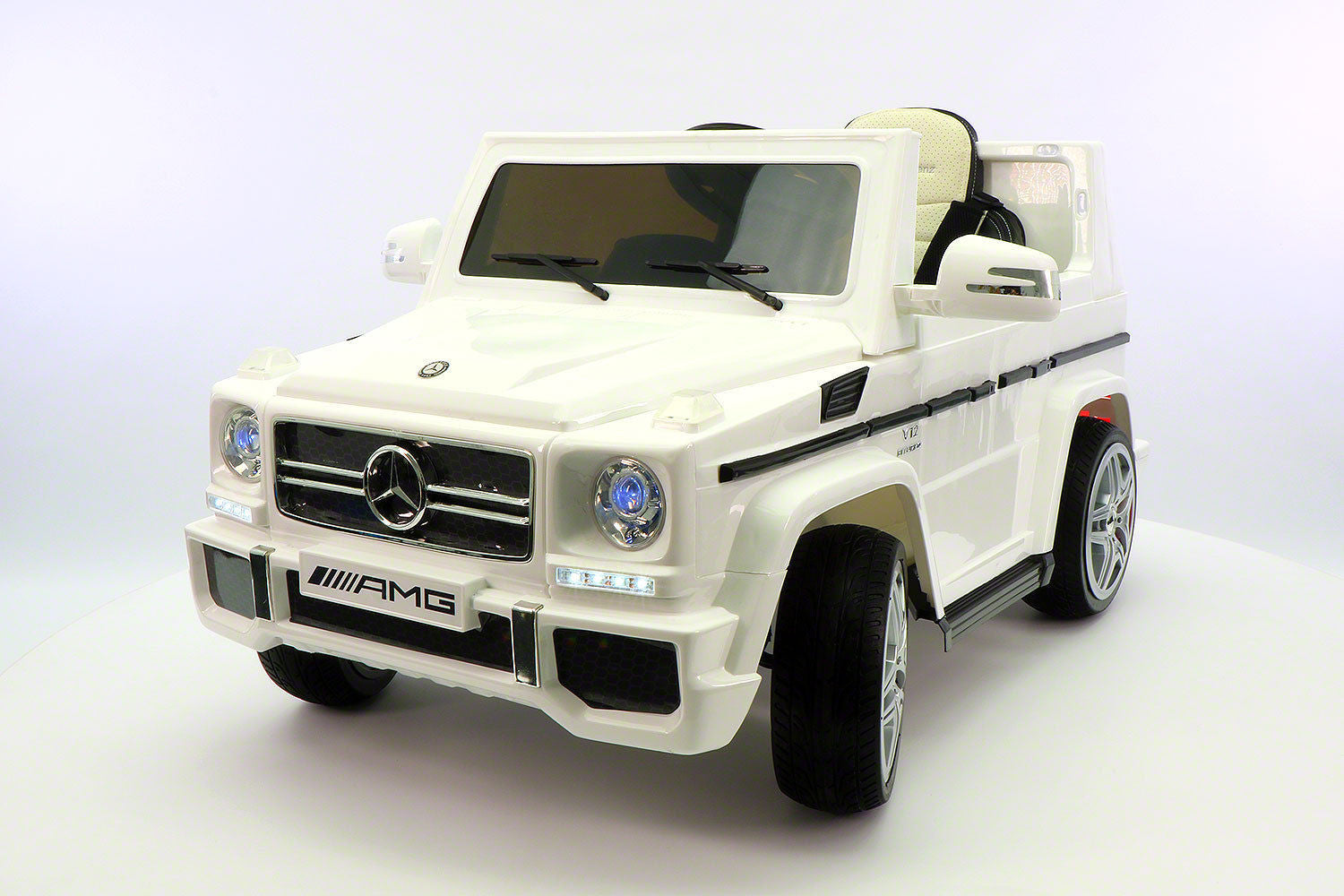 mercedes benz g65 amg 12v battery powered ride on toy car with mp3 and rc white
