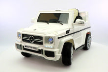 Mercedes Benz G65 AMG 12V Battery Powered Ride On Toy Car with MP3 and R/C White