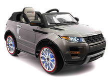 Range Rover Style 12V Kids Ride-On Car MP3,4 Battery Powered LED Wheels R/C Grey