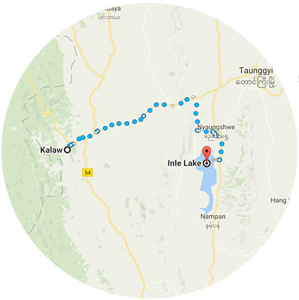 makers travelers myanmar map kalaw to inle lake trek