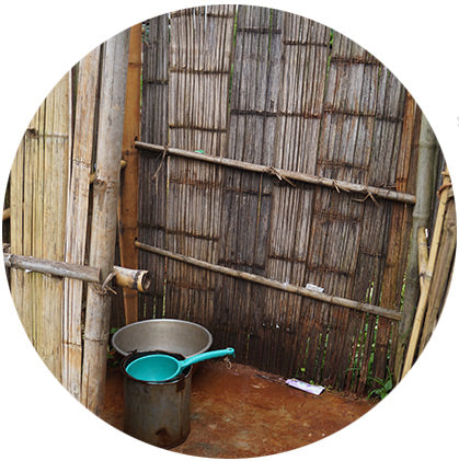 makers travelers myanmar trek shower village running water