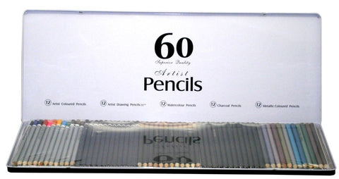 60 Artists Pencils in Tin