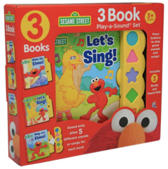 sesame street play sound book set