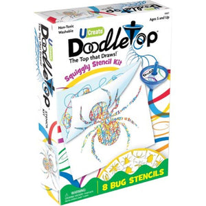 Doodletop Squiggly Bugs Stencil Kit - 8 Bug Stencils, [Product Type] - Daves Deals