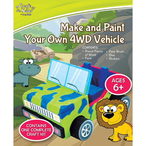 Make and Paint Your Own 4WD Vehicle - Craft Kits - Daves Deals - 1