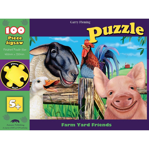 100Pc Farm Yard Friends Animal Puzzle, [Product Type] - Daves Deals