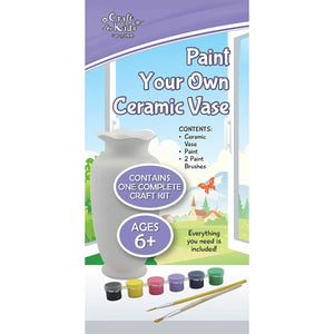 Paint Your Own Ceramic Vase - Craft Kits - Daves Deals - 2